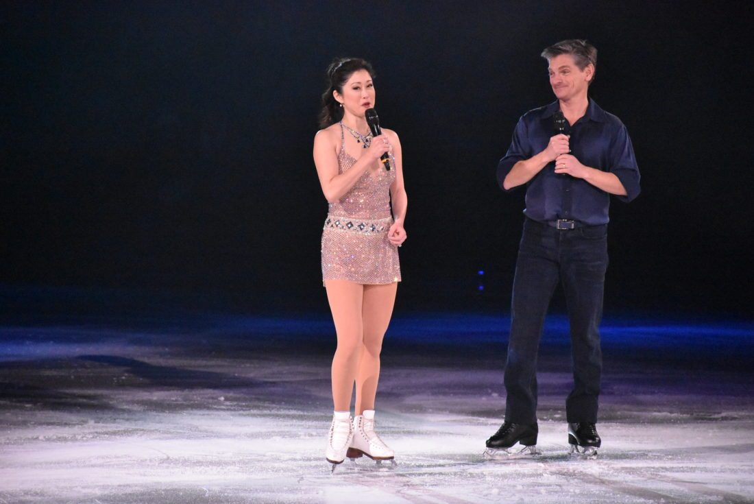 Olympic gold medalist Kristi Yamaguchi and Olympic silver medalist Paul Wylie host the Stars on Ice 25th anniversary at the Olympic Center in Lake Placid Saturday, Dec. 30. (Enterprise photo — Griffin Kelly)