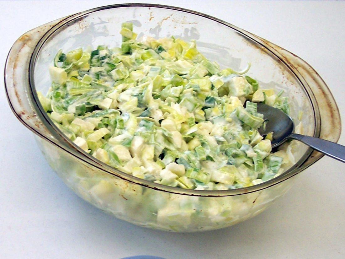 Leek and Apple Salad  (Photo provided —Yvona Fast)