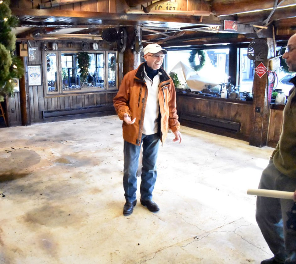 Great Adirondack Steak and Seafood General Manager Robert Kane hopes to get the restaurant back open by Martin Luther King Jr. Day weekend after pipes froze and burst in the early hours of New Year's Day. (Enterprise photo — Griffin Kelly)
