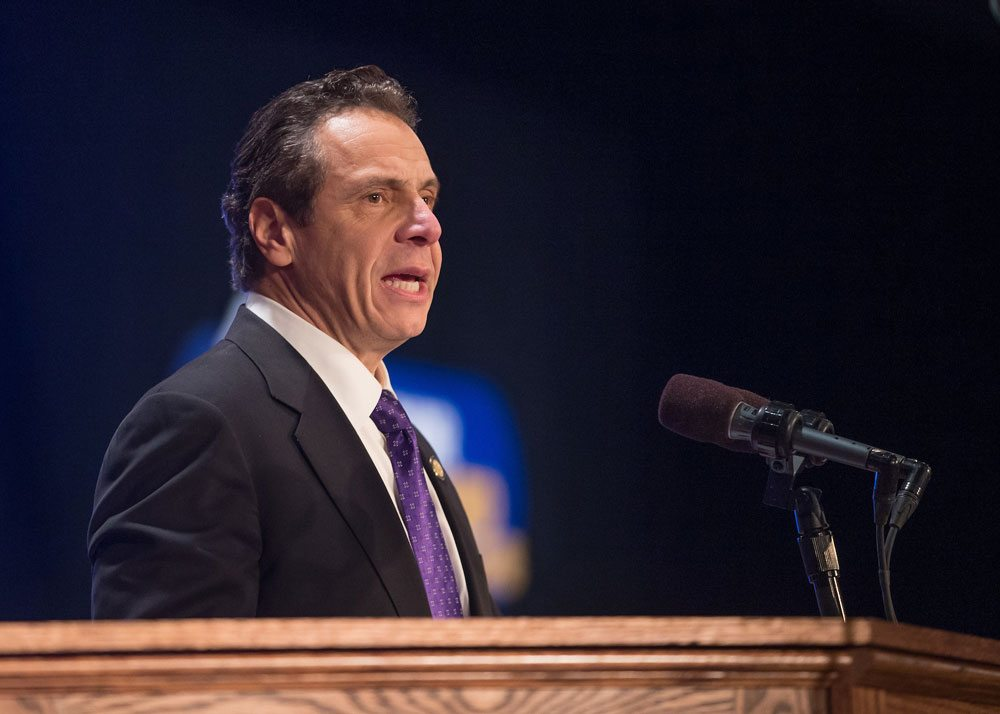 Gov. Andrew Cuomo delivers his State of the State speech Wednesday in Albany. (Photo provided by the governor's office)
