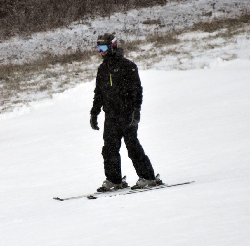 A boy skis at Whiteface Mountain on Nov. 19, 2017, the ski center's opening weekend this season. (Enterprise photo — Griffin Kelly)