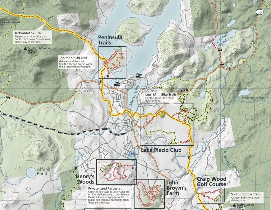 A new winter recreation map will be released later this month, and includes the entire length of the Jackrabbit Ski Trail as well as insets of popular areas like Mount Van Hoevenberg and Henry's Woods. (Photo provided)
