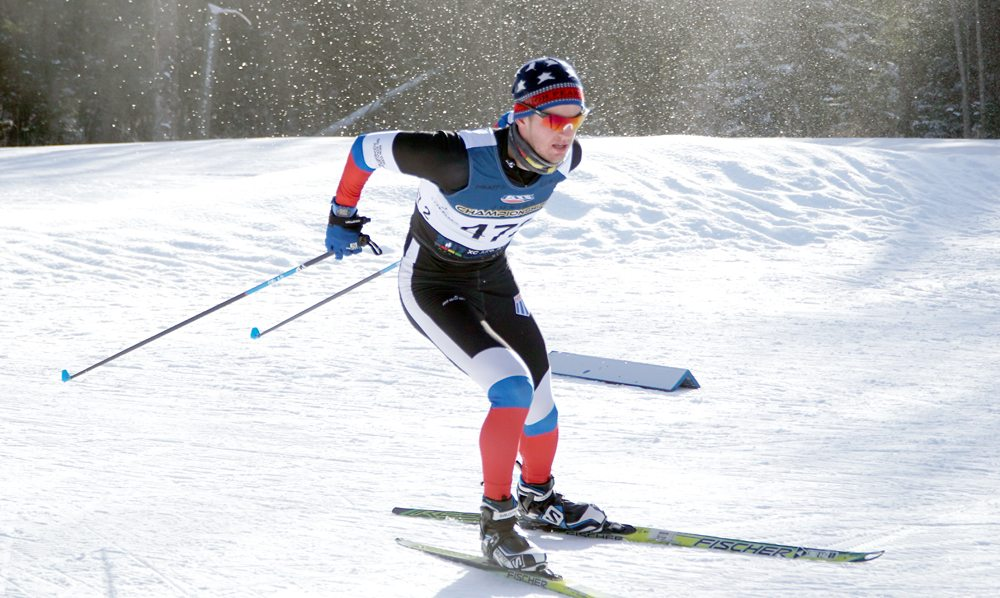 Scott Schulz, of Lake Placid, competes in the US Cross-Country Ski Championships last week at Kincaid Park in Anchorage, Alaska. Schulz earned a spot in the U18 Scandinavian Championships in Vuokatti, Finland later this month. (Photo provided by NYSEF)