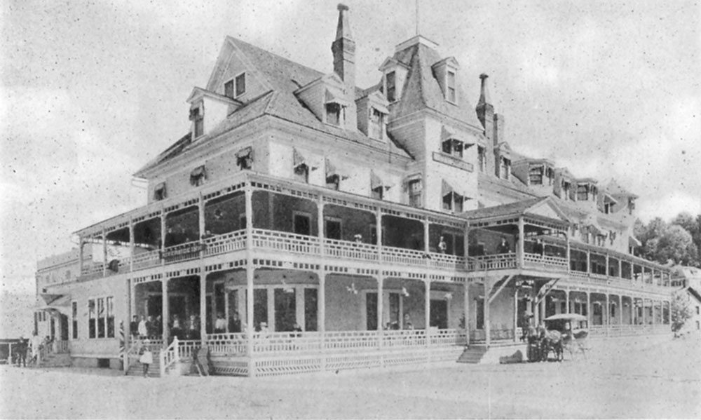 "The Riverside Inn in Saranac Lake is tapped as ""the largest all-the-year-round hotel in the Adirondacks in the historical booklet the Enterprise published in 1911. (Image courtesy of the Souvenir Program and Summary of Events, 1911 Carnival)"