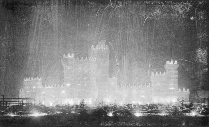 The Storming of the Ice Palace (Image courtesy of the Souvenir Program and Summary of Events, 1911 Carnival)