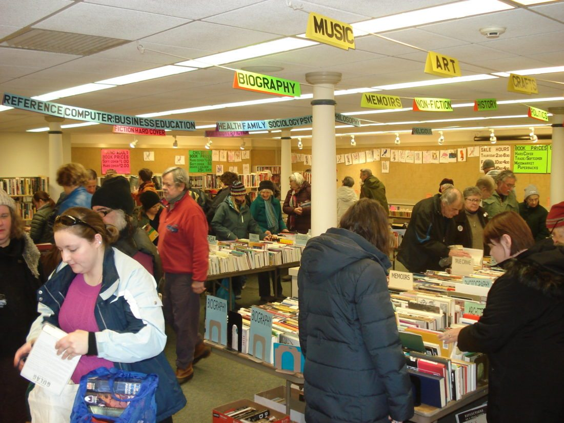 Books in every category, along with CDs, DVDs and puzzles, will be sold at the 29th annual Winter Book Sale on Feb. 8-10. (Photo provided — Pat Wiley)