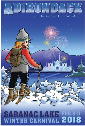 The 2018 Winter Carnival poster was designed by Doonebury cartoonist Garry Trudeau, who grew up in Saranac Lake.