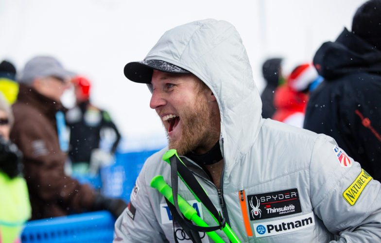 Lake Placid native Andrew Weibrecht, a two-time Olympic medalist, has remained upbeat despite struggling with injuries since placing third in this Beaver Creek, Colorado World Cup event in December 2015 and a second-place finish in Austria two months later. (Provided photo — Justin Samuels/U.S. Ski Team)