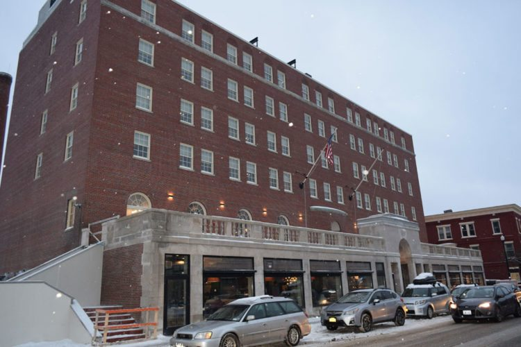 After a massive renovation project, the Hotel Saranac is seen around 4 p.m. Thursday, the time it opened to customers for the first time since 2013. (Enterprise photo — Glynis Hart)