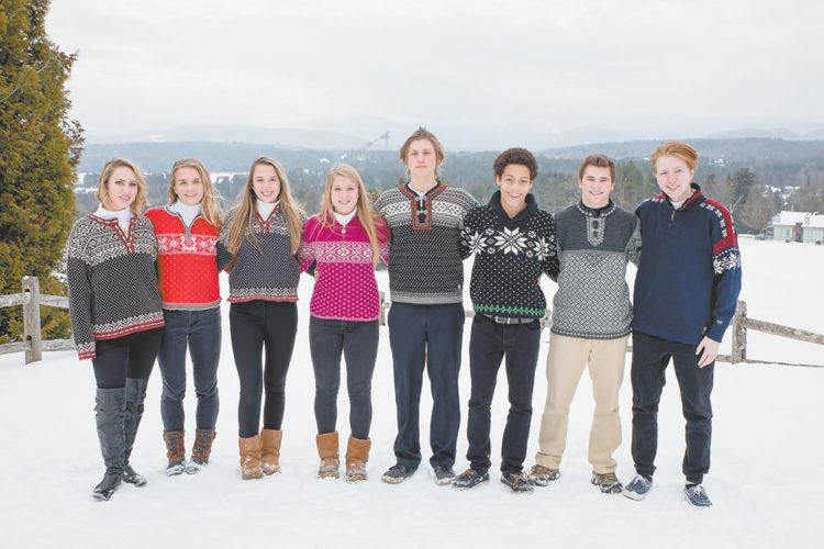 "Lake Placid Winter Carnival king and queen candidates, from left: Cadence Lewis, Camille Craig, Jennifer ""Jenn"" Godin, Shelby Jewtraw, Colin Bentley, Jarell Paul, Steven ""Drew"" Maiorca and Zachary Lawrence. (Photo provided)"