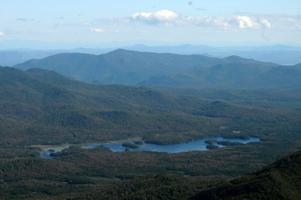 Boreas Ponds is seen from an airplane in September 2008. (Enterprise photo — Mike Lynch)