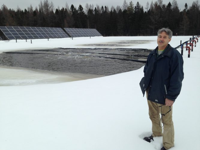 Stan Ugison poses at the town of St. Armand's wastewater treatment plant, where he works as supervisor. (Photo provided — Bill  Chaisson)