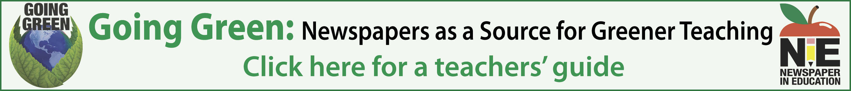Newspapers as a Source for Greener Teaching