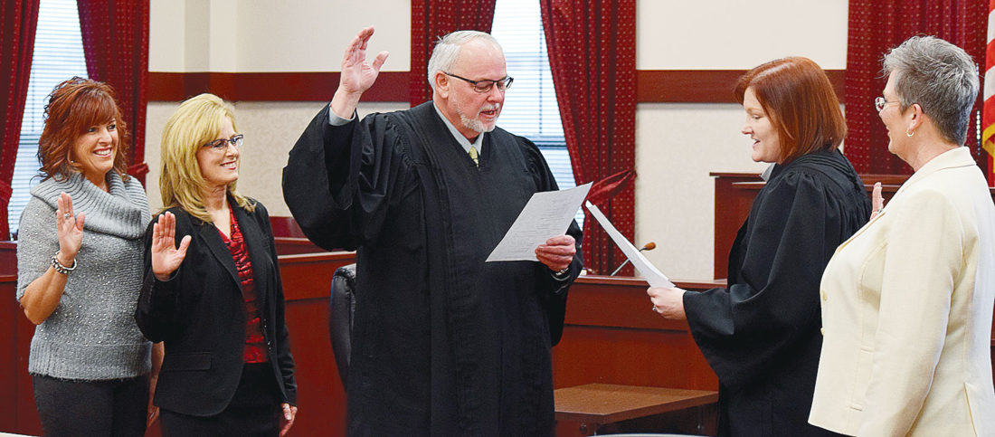 Judge Mike Kelbley and staff
