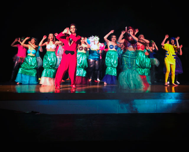 """PHOTO BY NICOLE WALBY The cast of """"The Little Mermaid"""" performs during a rehearsal."""