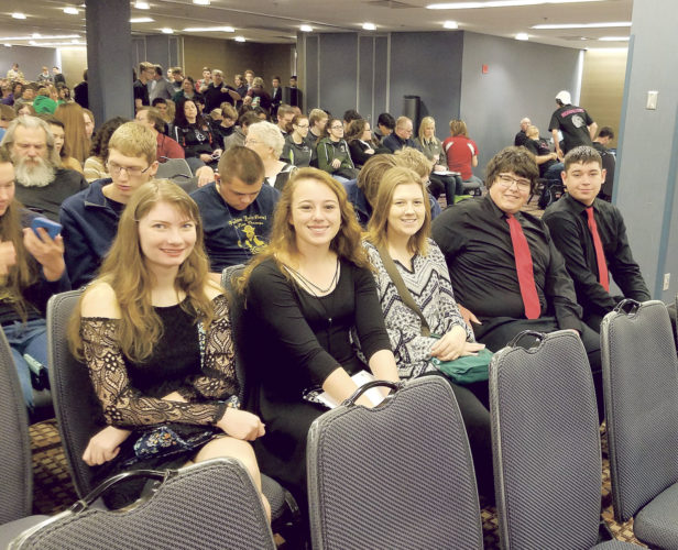 PHOTO SUBMITTED The Mohawk Academic Team includes (from left) Hannah Walters, Hayley Luhring, Bailey Morgan, Alex Lersch and Marcus Terry.