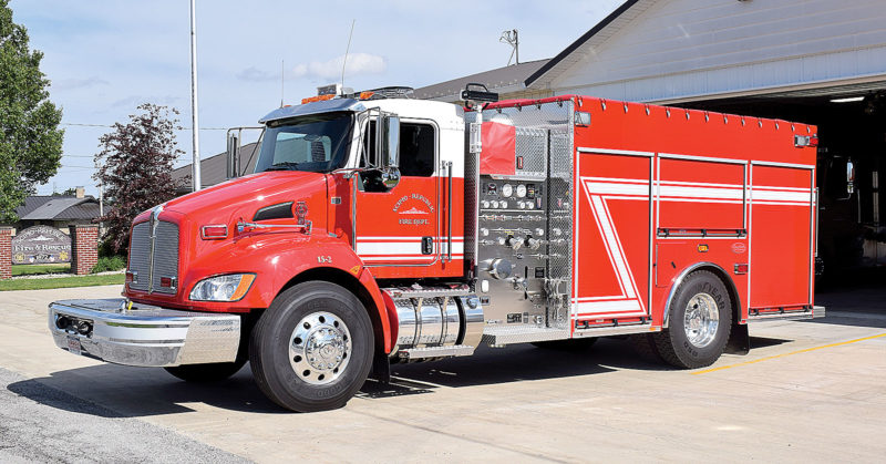 PHOTO BY JILL GOSCHE A 2017 Kenworth pumper-tanker has been added to Scipio-Republic Fire Department's fleet.