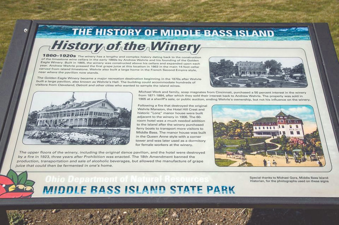 PHOTO SUBMITTED An example of a sign in the park educating people about the island's history.
