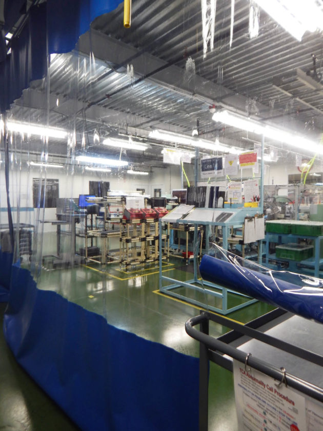 PHOTO BY NICOLE WALBY Pictured is the new vacuum pump line established at the Tiffin plant of Taiho Corp. of America.