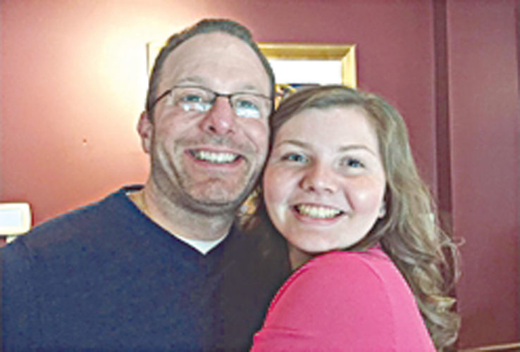 PHOTO SUBMITTED Matt Minichillo of Stow and his daughter, Hannah.