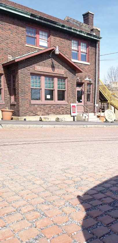 ... Along Portageu0027s Lee Street In Front Of The Local Historical Societyu0027s  Portage Station Museum. Local Historians Worry That A Pending Paving  Project ...