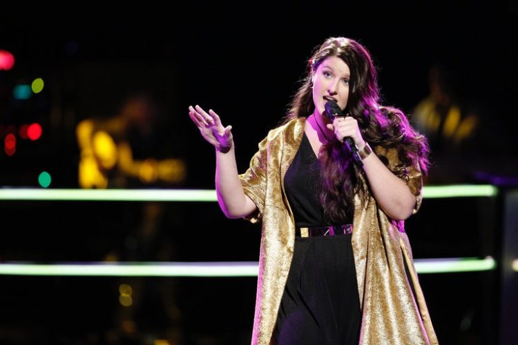 "Courtesy photo Karlee Metzger, formerly of Gladstone, sings on NBC's ""The Voice."""