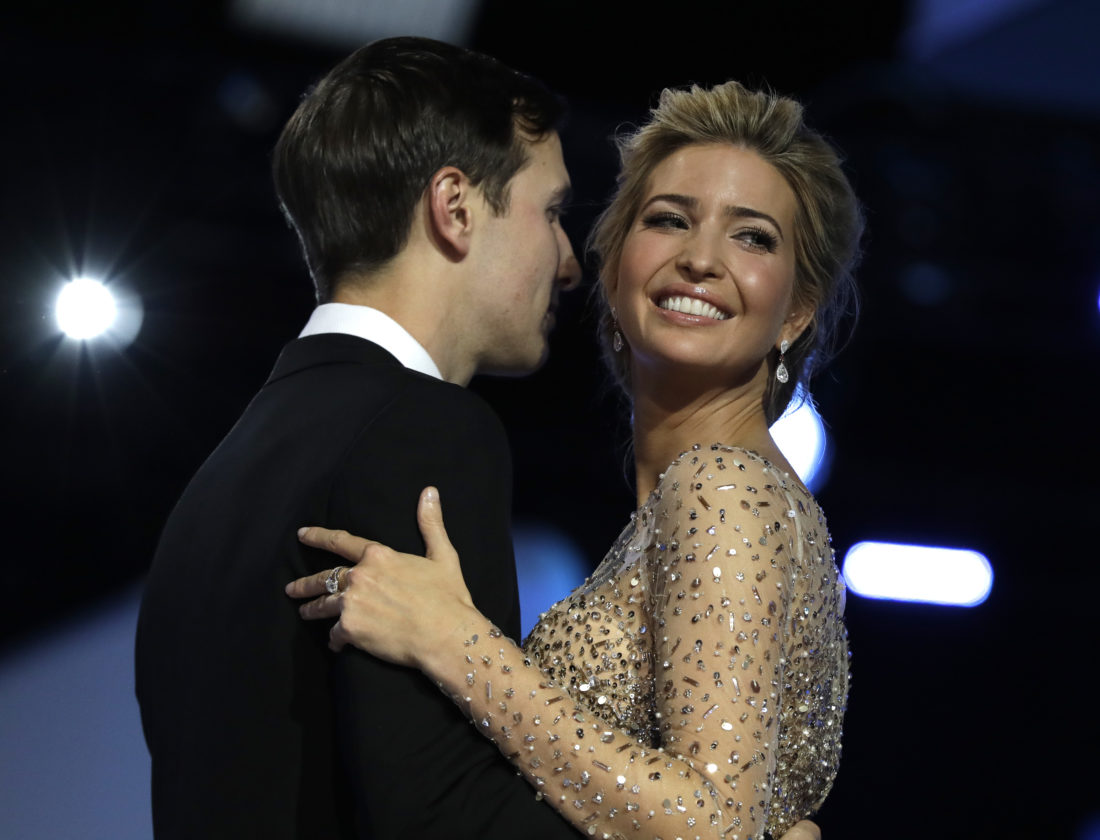 AP Photo/Evan Vucci, File  In this Jan. 20, 2017, file photo, Ivanka Trump and her husband Jared Kushner dance at the inauguration Freedom Ball in Washington. With her move to Washington, Ivanka Trump isn't just taking on a new city; she's navigating a different world.