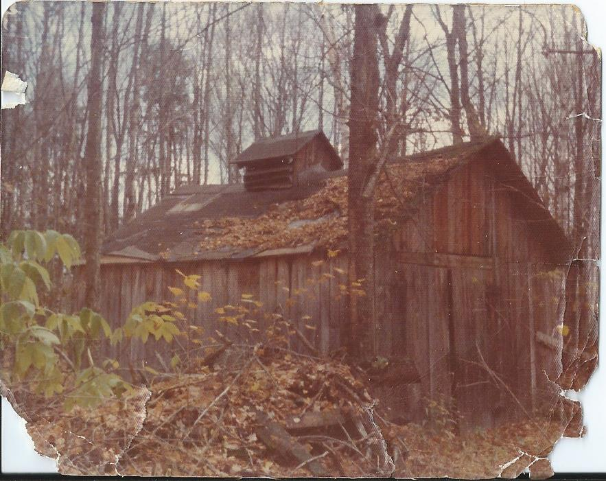 Courtesy photo The last standing sugar house in the hardwoods around Karen's family camp.