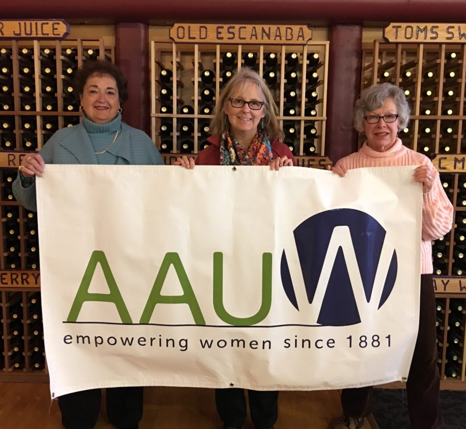 "Courtesy photo American Association of University Women (AAUW) members prepare for the April 25 ""Membership Matters"" meeting at Leigh's Garden Winery."