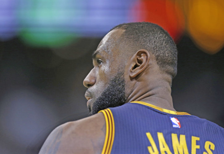 AP photo LeBron James scored 38 points to help lift Cleveland to victory against Boston.