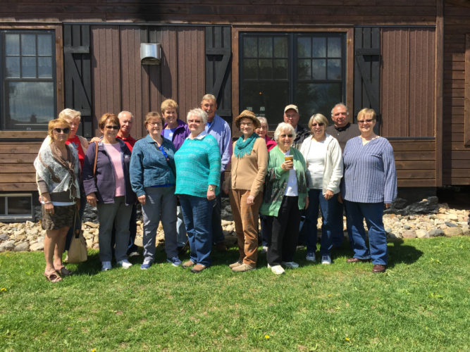 Courtesy photo The Bay Sages took a trip on May 25 to the Flower Farm in Hardwood, followed by lunch at Sjobergs in beautiful downtown Felch.