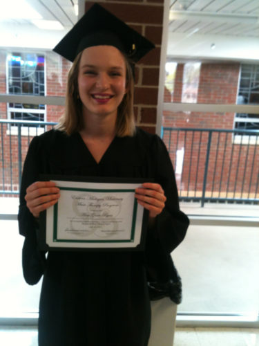 Courtesy photo Amy Grace Ryan, Escanaba High School class of 2013, graduated from Eastern Michigan University (EMU) on April 22 with a bachelor degree in music therapy.