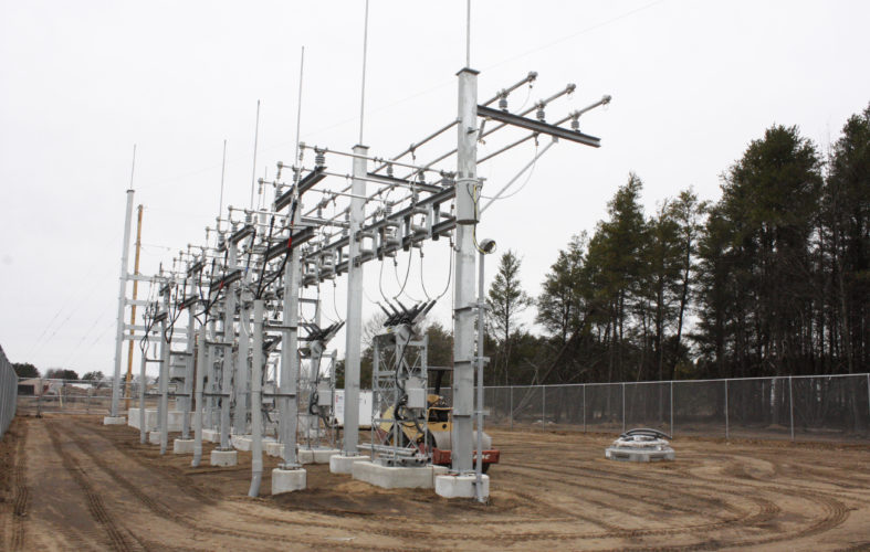 Jenny Lancour | Daily Press Escanaba's new electrical substation, pictured above this spring, is scheduled to go on line soon. The substation is one of three substations the city has to distribute power to customers in Escanaba and Ford River