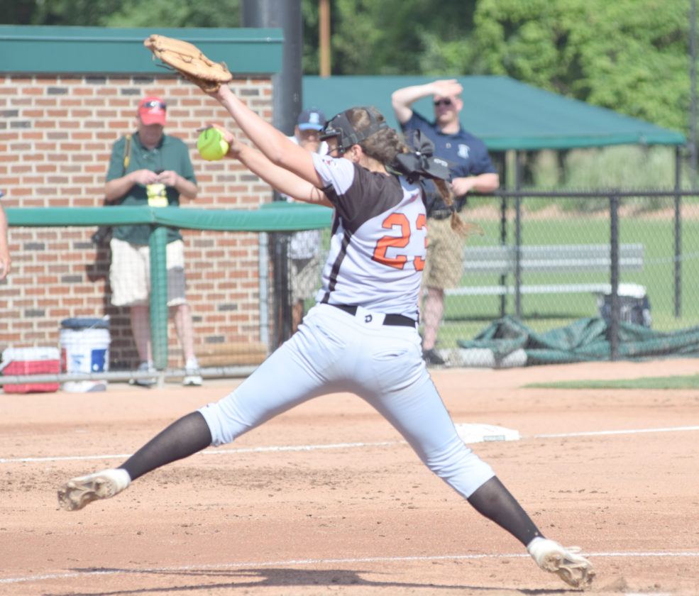 Mike Mattson | Daily Press Katie Ross delivers a pitch in Thursday's Division 2 state semifinal game against Richmond.