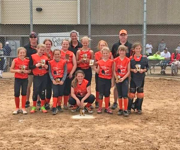 Courtesy photo The Escanaba 10U Heartbreakers took first place in the sixth annual Appleton Sizzle Slam last weekend. The Heartbreakers beat Hortonville 12-0 in the championship game. In their earlier games, the Heartbreakers defeated Bayport 7-1, Appleton 6-3, Bonduel 11-1, and New London 5-3. Members of the Heartbreakers back row from left are: Coaches Steve Braun, Kristin Bowden and Cory Engebretson. Front row from left are: Harlee Sue Coolman, Emmy Salo, Emma Sisler, Sophia Derkos, Emma Parlett, McKenzie Engebretson Grayson LaMarche Katie Lam, Clara Braun, Madison Mott, and Carly Bowden.