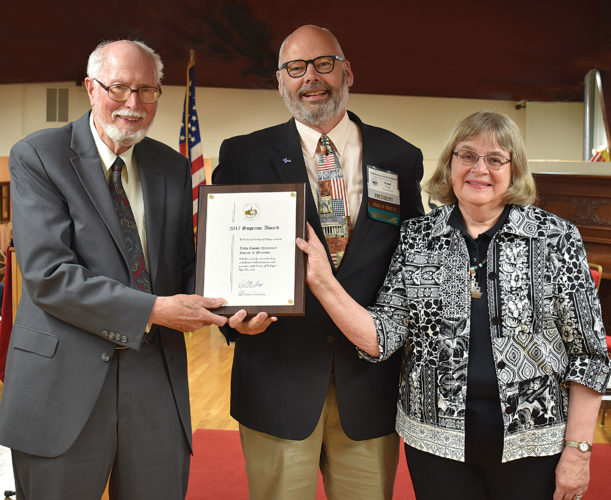 Courtesy photo The Delta County Historical Society in Escanaba recently received the Superior Award from the Historical Society of Michigan. The award recognizes historical societies, museums and other historical organizations that preserve and advance Upper Peninsula history.