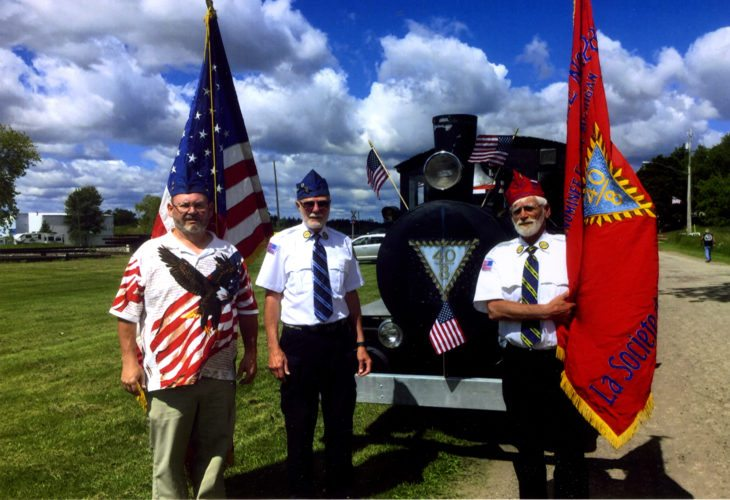 Courtesy photo Menominee County Voiture 1288 of the 40 et 8 were one of the partcipants in the 4th of July celebrations that were held in Stephenson on July 1, Hermansville on July 2, and Powers-Spalding on July 4. Pictured, from left, Lyle Gearhart, Al Salzwedel, and LeRoy Sjoholm.