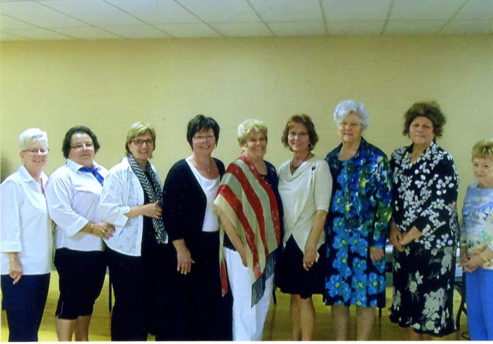 Courtesy photo Gladstone American Legion Auxiliary Unit 71 elected new officers for 2017-2018. Pictured, left, Mary Schram, president; Brenda Kinnart, chaplain and executive committee; Bev Quick, secretary; Sue Gagnon, sargent-at-arms; Lillian Page, executive committee; Karen Fleury, historian; and Jeanette Mineau, treasurer.