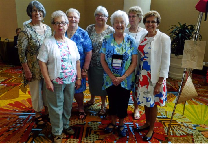 Courtesy photo Attendees at the 2017 Annual Lutheran Women's Missionary Society (LWMS) Convention include, front row, left to right, Marvela Herbst, Gail Maxwell, Pat Klenow; back row, left to right, Jane Landwehr, Lorraine Kerr, Joyce Czerwan, and Marie Anderson. Congregations represented are Mt. Olive Lutheran, Iron Mountain; Trinity Lutheran, Coleman; and Grace Lutheran Church, Powers.