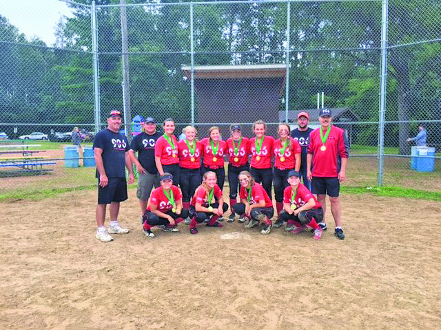 Courtesy photo The 906 16U fastpitch softball team won the 18U bracket with a 4-1 overall record last weekend in Arkdale, Wis. They beat River City Rage in the title game 7-5. Team members in front row: Alli Sheski, Hannah Voskuhl, Richelle Vandeville, Heather Bergstrom. Back row: Coach Rodney Schwartz, Coach Jim Voskuhl, Erika Schwartz, Faith Toutant, Tia Mattila, Gwen Naeyaert, Brittany Schwartz, Korey Kaukola, Coach Mark Mattila, Coach Steve Sheski.