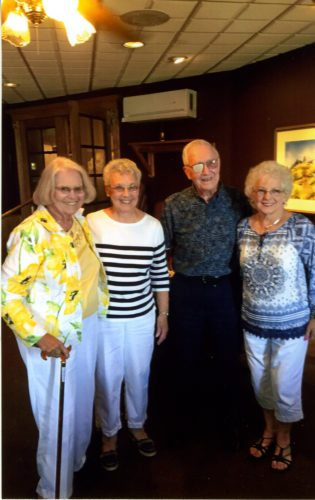 Courtesy photo St. Joseph class of 1947 recently celebrated their 70th class reunion with a luncheon. Those in attendance were, left, Patricia McMartin, Stella Andrews, Art Messier, and Evelyn Potvin.