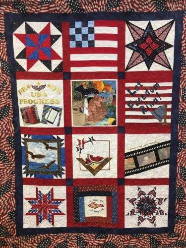 Courtesy photos Shown are the two quilts that will be raffled off at this year's Ladies Day program on Friday, Aug. 18. Get your raffle tickets at the Chamber office or at the fair office under the grandstand.