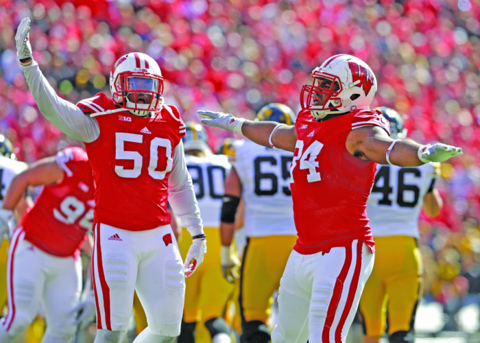 AP photo In this 2015 file photo, Wisconsin's Chikwe Obasih (34) and Chris Orr (50) celebrate against Iowa in Madison, Wis. The Badgers' once-enviable depth at inside linebacker is already being tested. But Wisconsin is confident that Orr and Ryan Connelly can help replace the production expected of Jack Cichy, an energetic senior leader, who has suffered a season-ending injury.