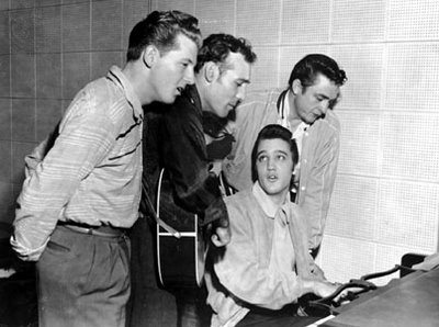 Wikipedia photo The Million Dollar Quartet takes audiences back to Dec. 5, 1956, when an extraordinary twist of fate brought together Elvis Presley, Jerry Lee Lewis, Johnny Cash and Carl Perkins.