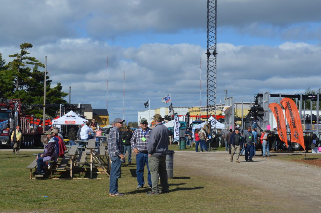 Jordan Beck | Daily Press Approximately 8,000 people are expected to attend this year's Great Lakes Logging and Heavy Equipment Expo by the time it wraps up at 1 p.m. today. This event is once again being held at the U.P. State Fairgrounds in Escanaba this year.
