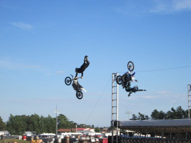 Patricia VanEnkevort | Daily Press Riders from the Sick Air stunt show perform at a past event held during the U.P. State Fair.