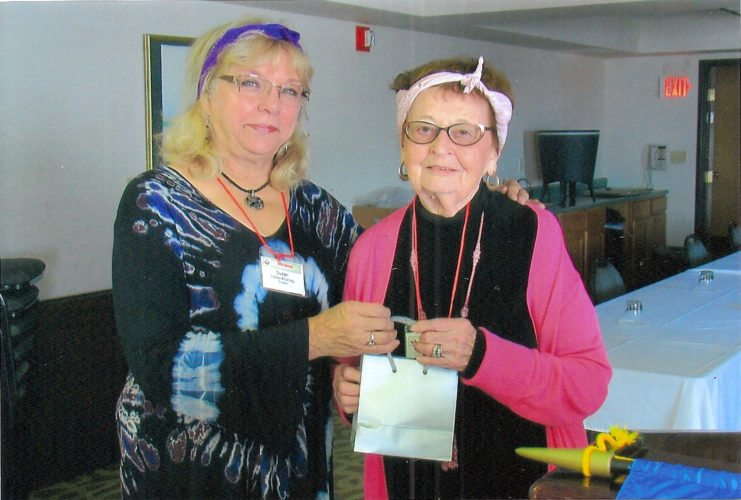 Courtesy photo Muriel Whitman was honored for 46 years of membership in the GFWC Manistique Women's Club. She is shown with membership chairman Susan Hatta-Krumrey.