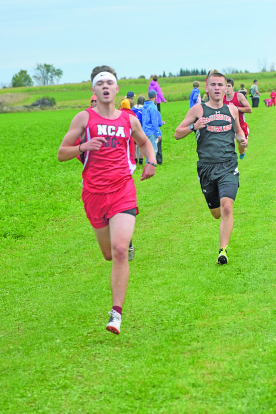 North Central's Connor Robinson, shown running in the Gladstone Invitational, finished third in the Skyline Central boys' race.