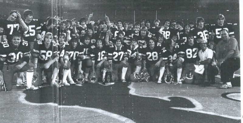 Courtesy photo The 1981-82 Escanaba Eskymos champions.