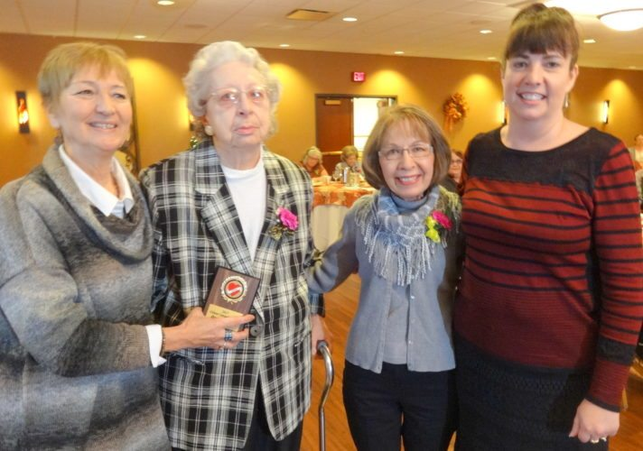Courtesy photo From left, Senior Companion Director Connie Maule, Dorothy, Gil Sablack's widow Rosemary and Senior Companion Supervisor Linda Paulin. For more photos go to mdscaa.org.